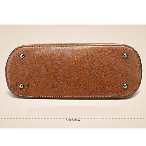 Ruiren New Fashion Handbag Borsa a Tracolla Portatile Casual Messenger Bag Money Bag per le Signore Nero