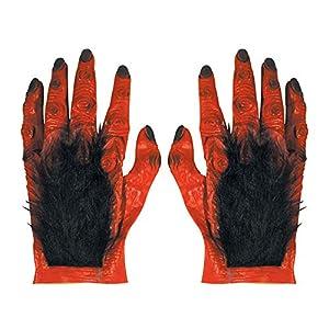 WIDMANN Maxi Hairy Devil Manos en látex de Accesorios para Halloween Lucifer Satanás Vestido
