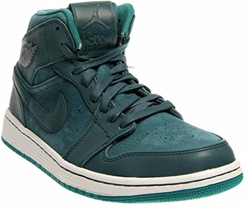 Scarpe da da da uomo Nike Air Jordan 1 Mid Nouveau Ombra da notte / Verde acqua rigogliosa / Bianco 629151-306 (TAGLIA... | Materiali Di Altissima Qualità  | Uomo/Donne Scarpa  cc6850