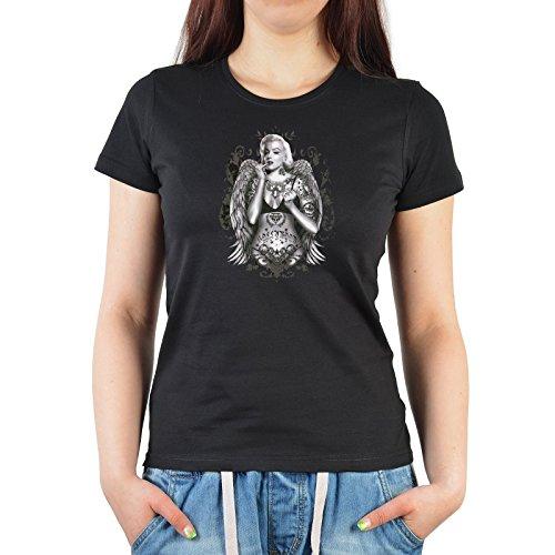 Styles Girlie Damen T-Shirt Funshirt Top Geschenk Motiv Marilyn Monroe Farbe (Monroe Outfit Ideen Marilyn)
