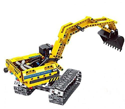 Modbrix Technic Bagger Bausteine Raupenbagger 342 Teile, Kompatibel mit L*GO Technik - 2