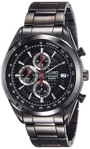 Seiko Dress Analog Black Dial Men's Watch - SSB179P1