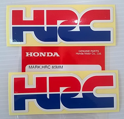 2 x Honda - HRC (Honda Racing Corporation) DECALCOMANIA ADESIVO STEMMA - L 85mm x H 30mm 100% Genuine
