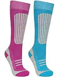 Trespass Womens/Ladies Janus II Technical Warm Ski Socks 2 Pair Pack