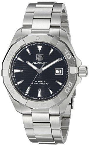 TAG Heuer Aquaracer de acero inoxidable automático suizo de los hombres de vestido de reloj, color: silver-toned (modelo: WAY2110. ba0928)