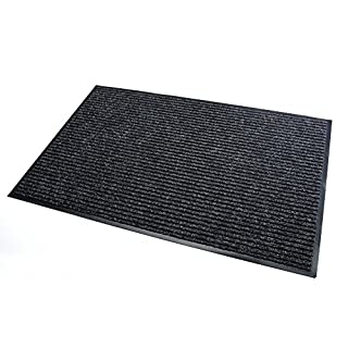 High Quality Rug & Shoe Scraper ✓ Extremely Durable ✓ Exterior and Interior ✓ Washable ✓ PVC Free - Entrance Mat, Welcome Mat - Exterior dust mat, Dirt trapping mat (MULTI 90x150 cm, black)