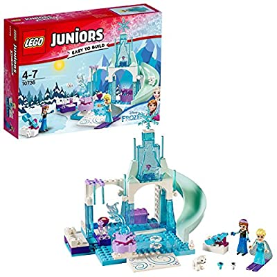 LEGO Juniors Princesas Disney - Zona de juegos invernal de Anna y Elsa (10736) por Lego S.A.