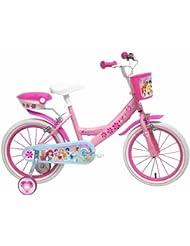 Disney - Bicicleta con ruedines y cesta