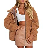 Soupliebe Damen Revers Langarm Faux Lammfell Mantel Winter Freund Winter Faux Mantel Jacken Mäntel Sweatjacke Winterjacke Fleecejacke Steppjacke