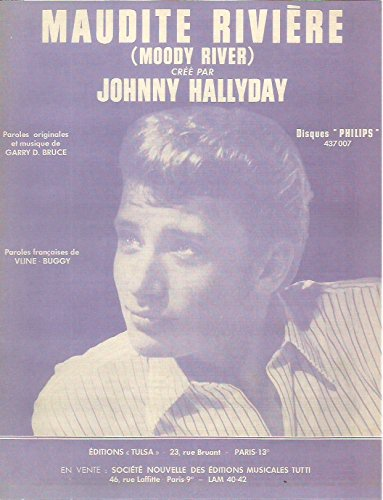partition-johnny-hallyday-maudite-riviere-paroles-musique