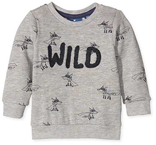 TOM TAILOR Kids Baby-Jungen Fuchs Sweatshirt, Grau (Medium Grey Melange 2482), 62
