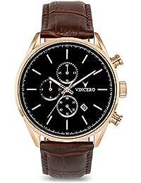 ca8af003327 Montre bracelet de luxe Vincero Chrono S pour homme - Rose Or avec bracelet  en cuir