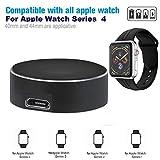 Wokee Wireless Magnetisches Aluminium Ladekabel Ladestation Dock Halterung Pad für Apple Watch 40/44mm,Serie 4/3/2/1,MFI Zertifiziert (Schwarz)