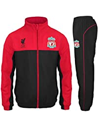 Liverpool FC Official Football Gift Boys Jacket   Pants Tracksuit Set Red 8eaa56a64