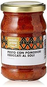 Marchio Amazon - Wickedly Prime Pesto con Pomodori Essiccati al Sole (6x190g)