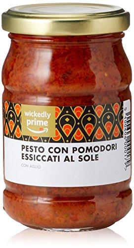 Amazon Marke - Wickedly Prime-  Pesto mit sonnengetrockneten Tomaten und Knoblauch (6x190)