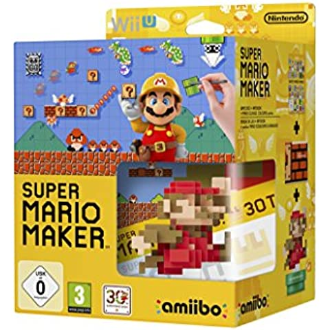 Mario Maker + Artbook + Figura Amiibo Mario 30 Aniversario
