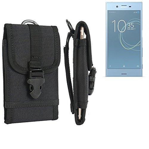 K-S-Trade Handyhülle für Sony Xperia XZs Dual SIM Gürteltasche Handytasche Gürtel Tasche Schutzhülle Robuste Handy Schutz Hülle Tasche Outdoor schwarz