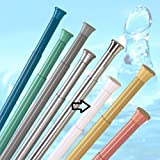 DUSCHVORHANGSTANGE 190 - 300 cm WEISS ** EXTRA LANG ** TELESKOPSTANGE! SPRING SHOWER ROD WHITE EXTRA LONG!