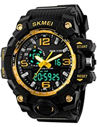 16f68bf07a6 SKMEI Mens Boys Analogue Digital Sport Watch Shock Style Military Big Face  Casual Back Light Electronic