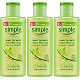 Simple Kind to Skin Soothing Facial Toner 200ml x 3 Packs by Unilever