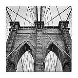 CafePress Brooklyn Bridge New York City Close U Fliesenuntersetzer, Kleiner Untersetzer
