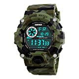 Skmei 1019 LED Sports Military Watch 50M Water Resistant