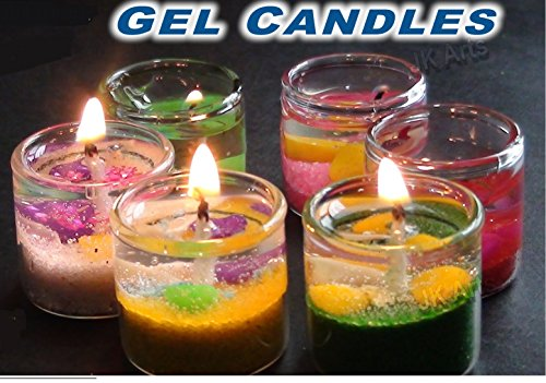 Lyallpur Stores Peepalcomm Small Gel Pencil Candle (Set Of 18 Pc)