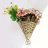 Guorihonghp GRH Metall Blumentopf Pflanzgefäß hängenden Korb Garten Flexible Home Indoor/Outdoor Wand Pflanze Kranz Blumentöpfe Garten Dekor P5