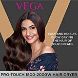 VEGA Pro Touch 1800-2000 Hair Dryer (VHDP-02), Black