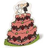 """Nici 33791  - Jolly boda siega recién casados Hucha plegable """"pastel de bodas"""""""