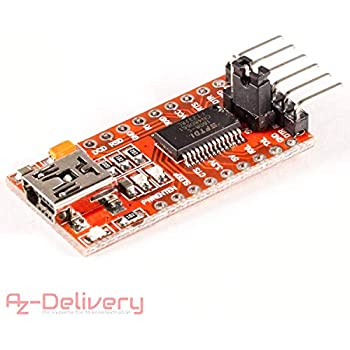 Alftek FT232 Adaptateur USB vers TTL pour Arduino Mini Port 3,3 V 5,5 V FTDI