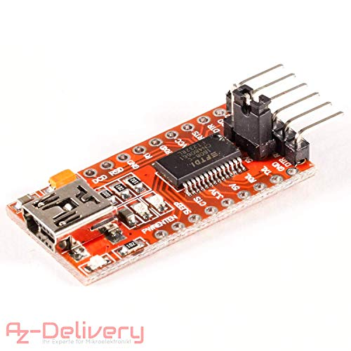 Usb Board Kabel (AZDelivery ⭐⭐⭐⭐⭐ FTDI Adapter FT232RL USB zu TTL Serial für 3,3V und 5V mit gratis eBook!)