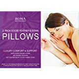 Goose Feather And Down Pillows (2 Pack)