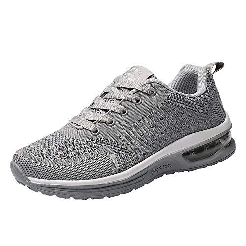 Damen Herren Paar Laufschuhe,TWBB Mode Einfarbig Leichtgewicht Schuhe Luftkissen Sportschuhe Schaukelschuhe Outdoor Breathable Freizeitschuhe