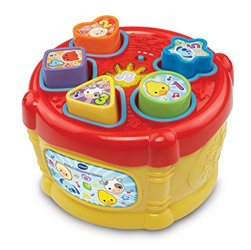 VTech Baby Sort and Discover Drum – Multi-Coloured 51QEkdgWmuL