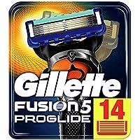 Gillette Fusion5 ProGlide Cuchillas de Afeitar con Tecnología FlexBall, Paquete de 14 Cuchillas de Recambio