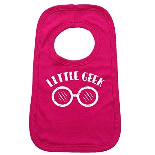 123t Baby Lätzchen Little Geek Brillen Design - Hot Pink, One size