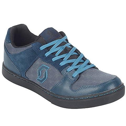 Scott FR 10 MTB Freeride Fahrrad Schuhe blau/schwarz 2018: Größe: 43