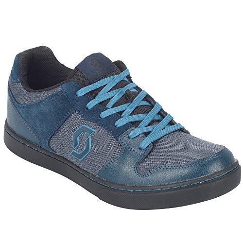 Scott FR 10 MTB Freeride Fahrrad Schuhe blau/schwarz 2019: Größe: 42