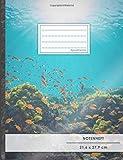 Notenheft: DIN A4 • 48 Seiten, 24 Blatt, 12 Systeme,