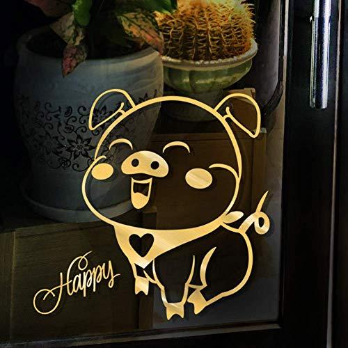 2019 Dekoration Wandaufkleber Einkaufszentrum Fenster Kleidung Milch Tee Dessert Glastür Aufkleber Fenster Blume Dress Up (Up Dress Qualität Kleidung)