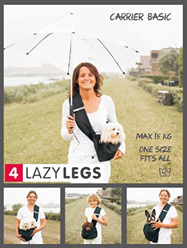 4LazyLegs AN10022-002 Hundetragebeutel, M, schwarz