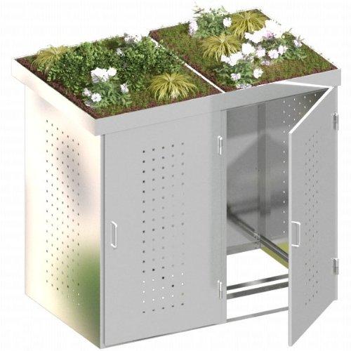 BINTO Mülltonnenbox Edelstahl - System 12