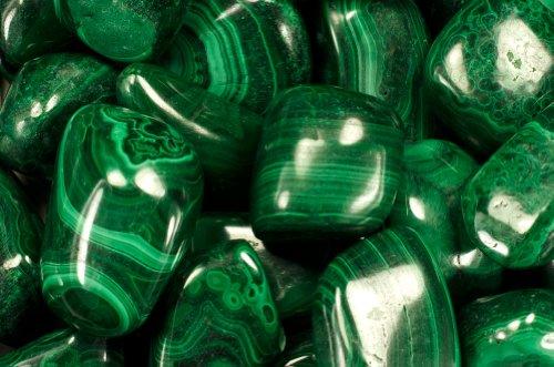 Fantasia Materials: 110 Gramos de Piedras de malaquita de Zaire – Gemas Naturales pulidas para Wicca, Reiki y Energy Crystal Healing