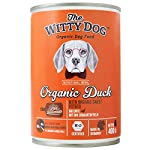 The Witty Dog 100% Organic Wet Dog Food, Complete Menu: Duck With Pumpkin, Tins 6x400 Gr. (Puppy, Adult, Senior Dogs) 10