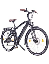 "NCM Venice 28"" Zoll Elektrofahrrad Herren/Damen Unisex Pedelec,E-Bike,Trekking Rad, 36V 250W 14Ah Lithium-Ionen-Akku mit PANASONIC Zellen, matt schwarz"