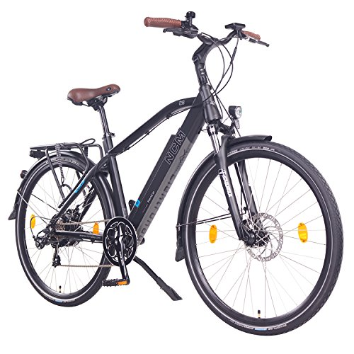 NCM Venice 28″ Zoll Elektrofahrrad Herren/Damen Unisex Pedelec,E-Bike,Trekking Rad, 36V 250W 14Ah Lithium-Ionen-Akku mit PANASONIC Zellen, matt schwarz