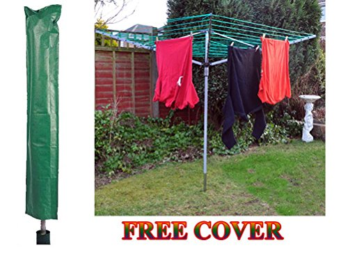 45m-garden-4-arm-rotary-washing-line-clothes-dryer-airer-with-ground-spike