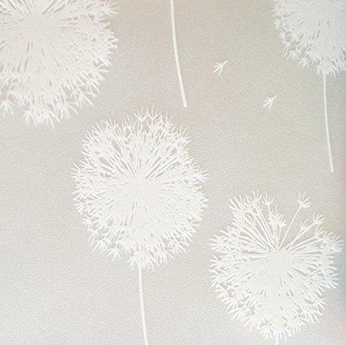 NEOXXIM - Sichtschutzfolie statisch Meterware Pusteblumen (SF131) 150x90 cm mattierte Klebefolie Fenster Bad Milchglas Glasfolie Ädhäsionsfolie